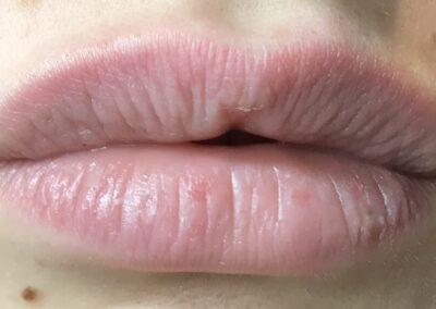 Lèvres avant maquillage