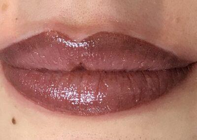 Lèvres après maquillage