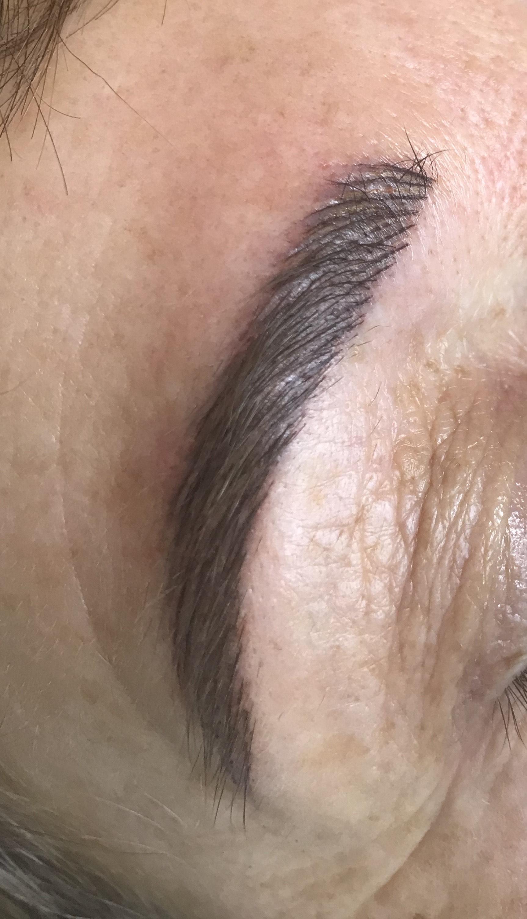 Sourcils après nouvelle pigmentation et epilation